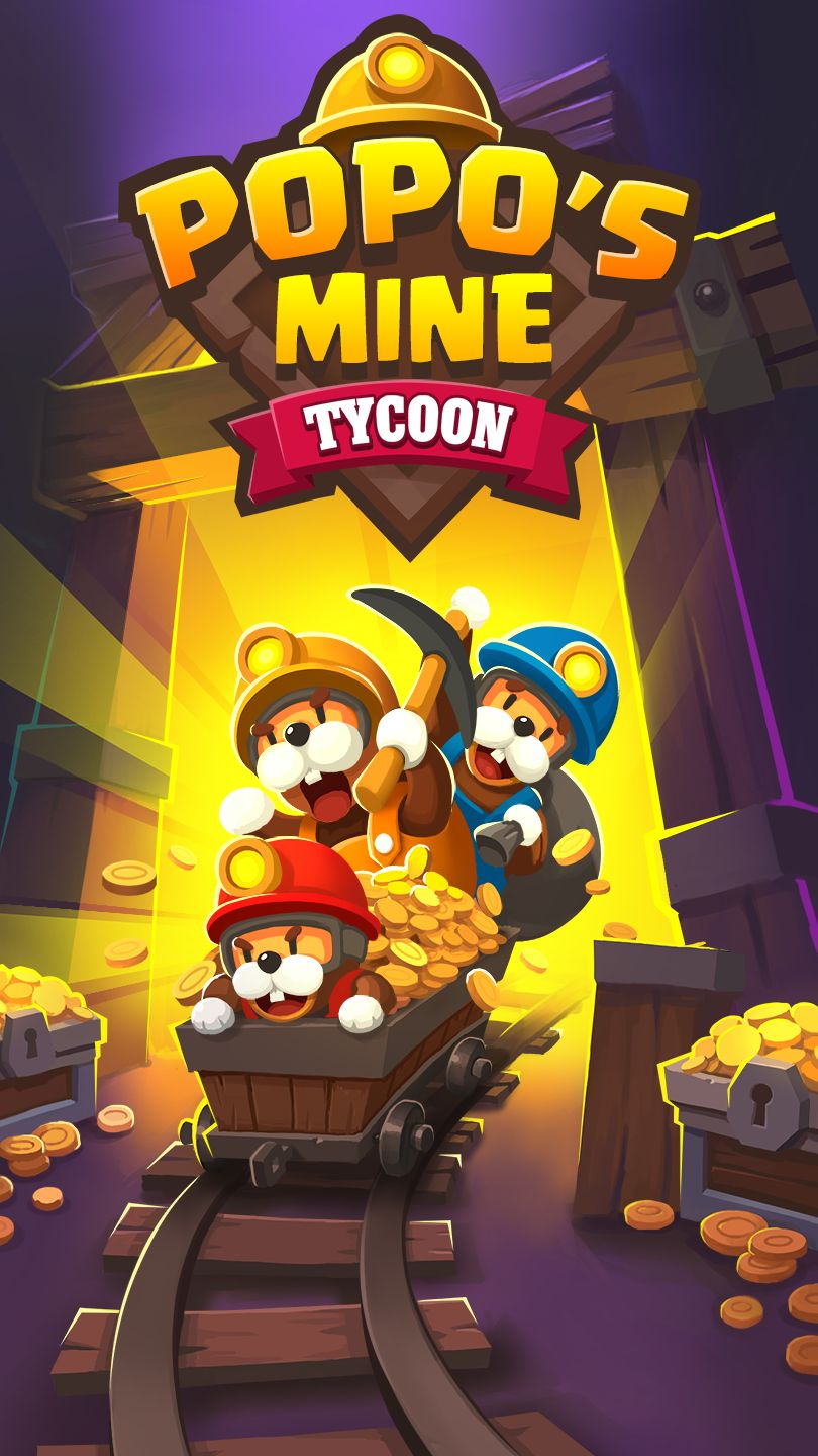 Popo's Mine - Idle Tycoon Game スクリーンショット1
