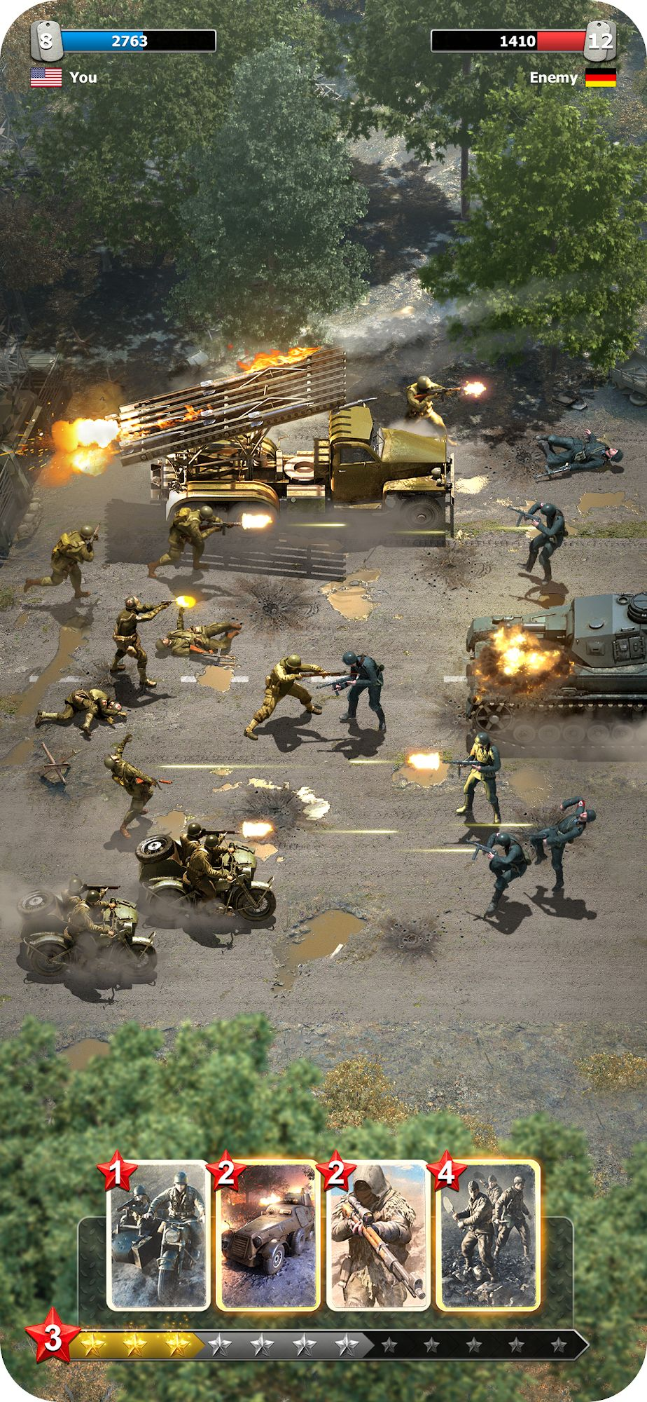 Heroes of War: WW2 Idle RPG para Android