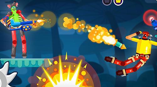 Arcade-Spiele Ragdoll rage: Heroes arena für das Smartphone