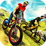 Uphill offroad bicycle rider ícone