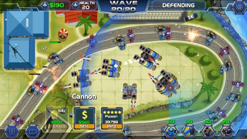 Strategie Tower defense: Robot wars für das Smartphone