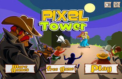 logo Cowboy Pixel Turm - Wirf sie runter und zerstöre den Turm!