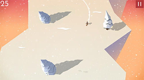 Mountain dash: Endless skiing race screenshot 2