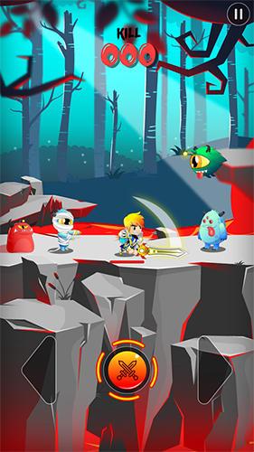 Arcade-Spiele League of champion: Knight vs monsters für das Smartphone