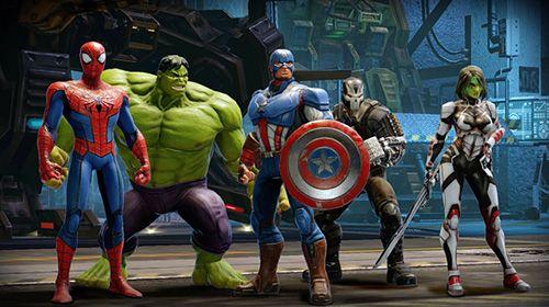 Screenshot Marvel Strike Force auf dem iPhone