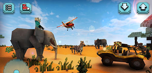Sandbox Savanna safari craft: Animals auf Deutsch