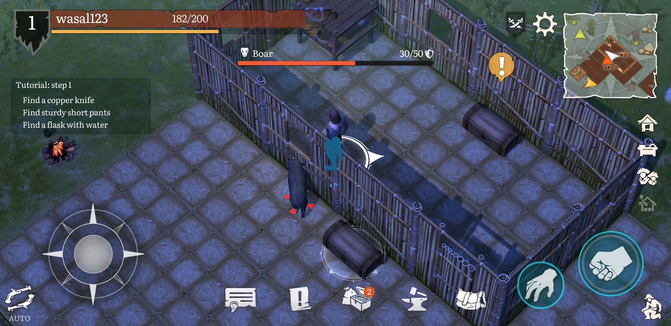 Mutiny: a Pirate Survival RPG captura de pantalla 1
