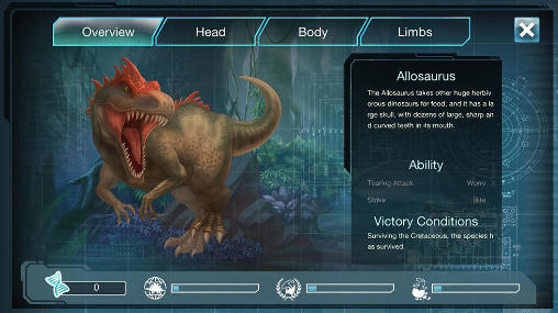 Jurassic world: Evolution pour Android