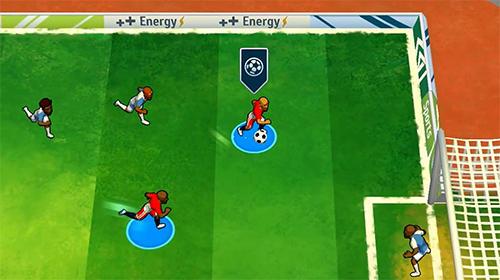 Kick and goal: Soccer match auf Deutsch