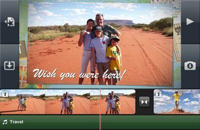 Screenshot iMovie on iPhone