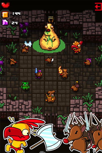 Rogue grinders: Dungeon crawler roguelike RPG captura de pantalla 1
