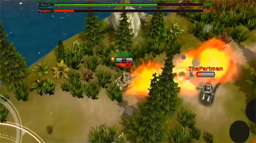 Shooter Rise of tanks: 5v5 online tank battle auf Deutsch