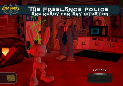 Sam & Max Beyond Time and Space Episode 2.  Moai Better Blues in Russian