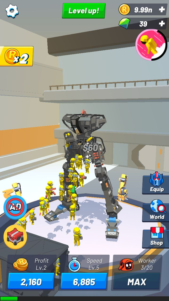 Idle Robot Inc - Idle, Tycoon & Simulation for Android