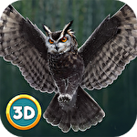 Flying owl simulator 3D icône