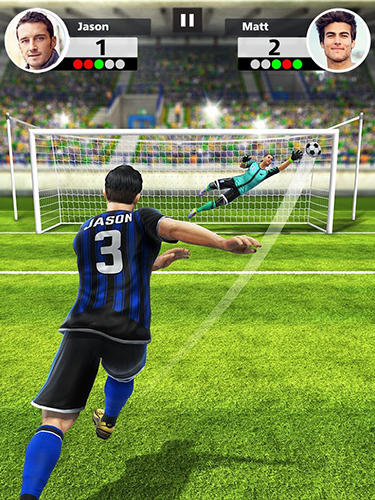 Football strike: Multiplayer soccer captura de pantalla 1