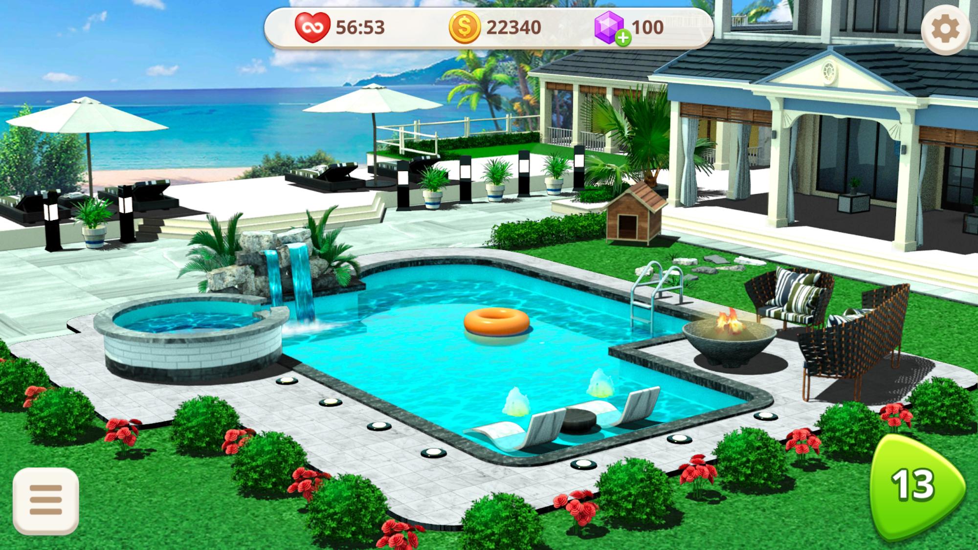 Home Design : Caribbean Life captura de pantalla 1