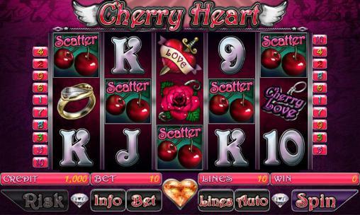 de hasard Cherry heart slot pour smartphone