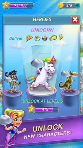 Arcade-Spiele Raccoon pizza rush für das Smartphone