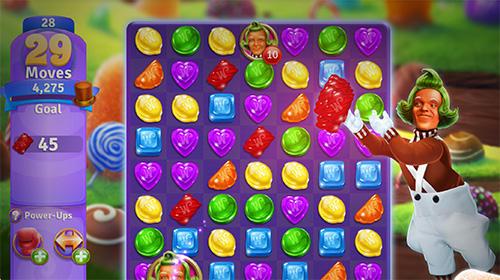 3 Gewinnt-Spiele Willy Wonka's sweet adventure: A match 3 game auf Deutsch
