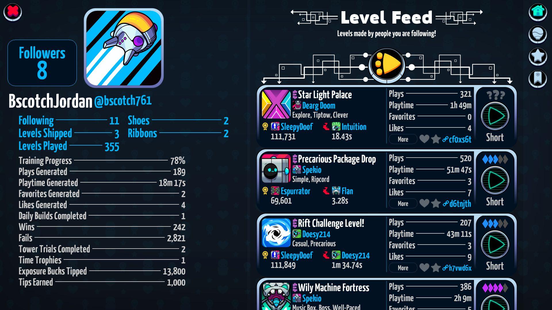 Levelhead captura de pantalla 1