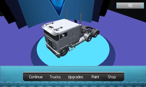 Simulator-Spiele Truck driver 3D: Extreme roads für das Smartphone