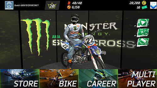 Monster energy supercross game captura de tela 1