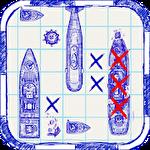 Retro sea battle icono