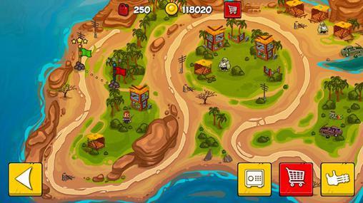 Tower defense games Zombwar in English