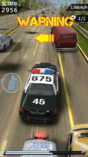 Arcade-Spiele Chasing car speed drifting für das Smartphone