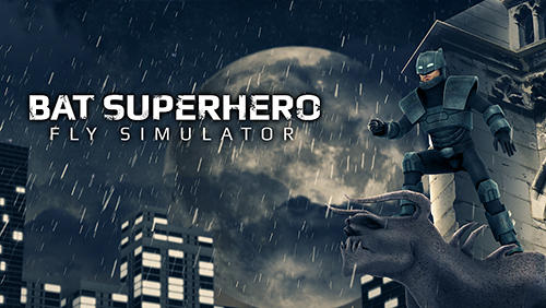 Bat superhero: Fly simulator icono