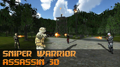 Sniper warrior assassin 3D Symbol