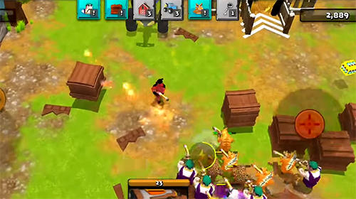 見下ろし型シューティングゲーム Battle cow unleashed の日本語版