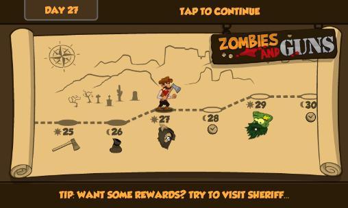 Juegos de arcade Zombies and guns para teléfono inteligente