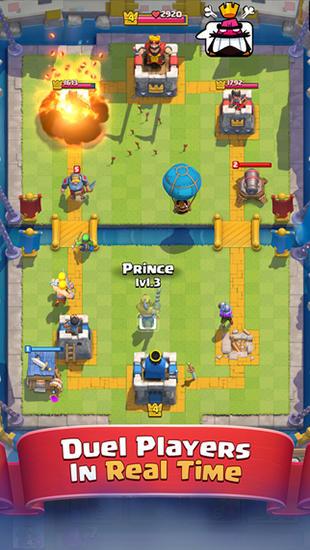 Juegos en línea Clash royale para teléfono inteligente