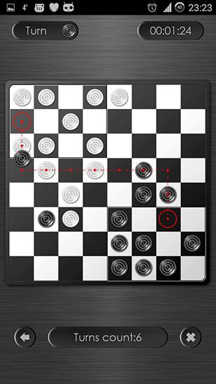 Dame-Spiele Checkers-corners HD auf Deutsch