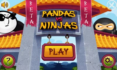 à la Angry Birds Pandas vs Ninjas pour smartphone