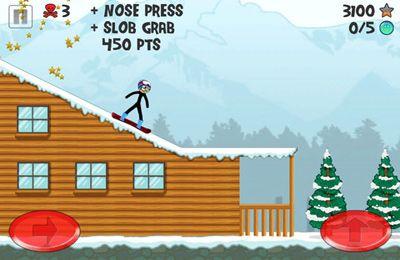 Аркады игры: скачать Stickman Snowboarder на телефон