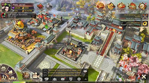 Three kingdoms: Epic war für Android