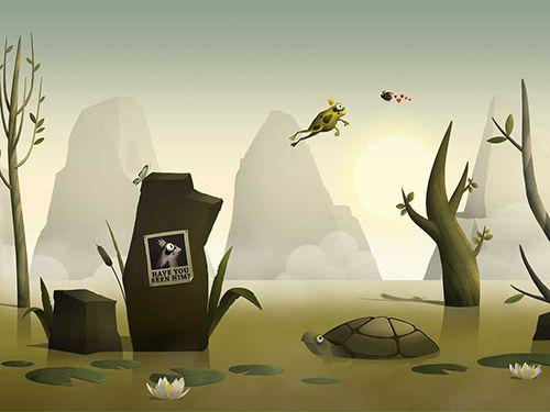 Побег лягушонка для Айфон