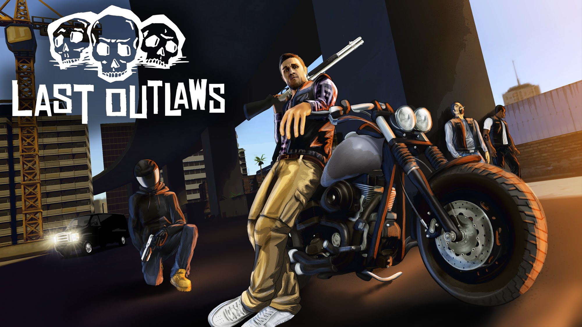 Last Outlaws: The Outlaw Biker Strategy Game captura de tela 1