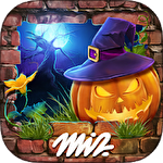 Hidden objects. Halloween games: Haunted holiday Symbol
