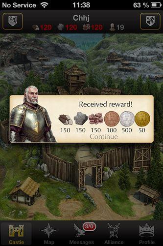 Screenshot Lords und Ritter auf dem iPhone