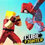 Cube pixel fighter 3D Symbol