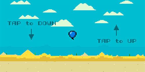Arcade-Spiele Alone balloon für das Smartphone