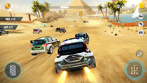 Dirt car racing: An offroad car chasing game Screenshot