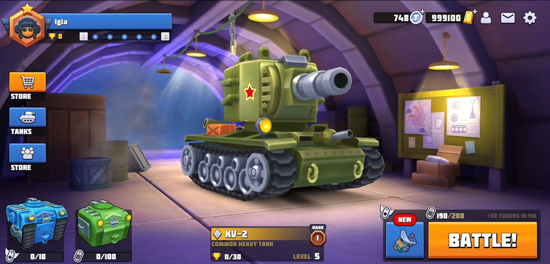 Tanks Brawl : Fun PvP Battles! capture d'écran 1