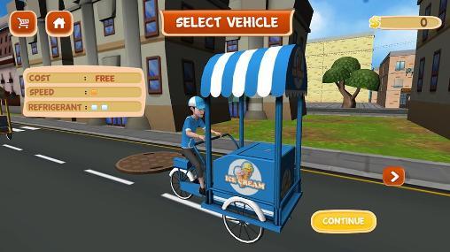 Simulation Beach ice cream delivery für das Smartphone
