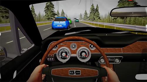 Rennspiele Pov car driving für das Smartphone
