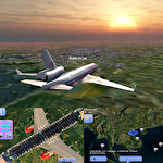 Flight world simulator icône